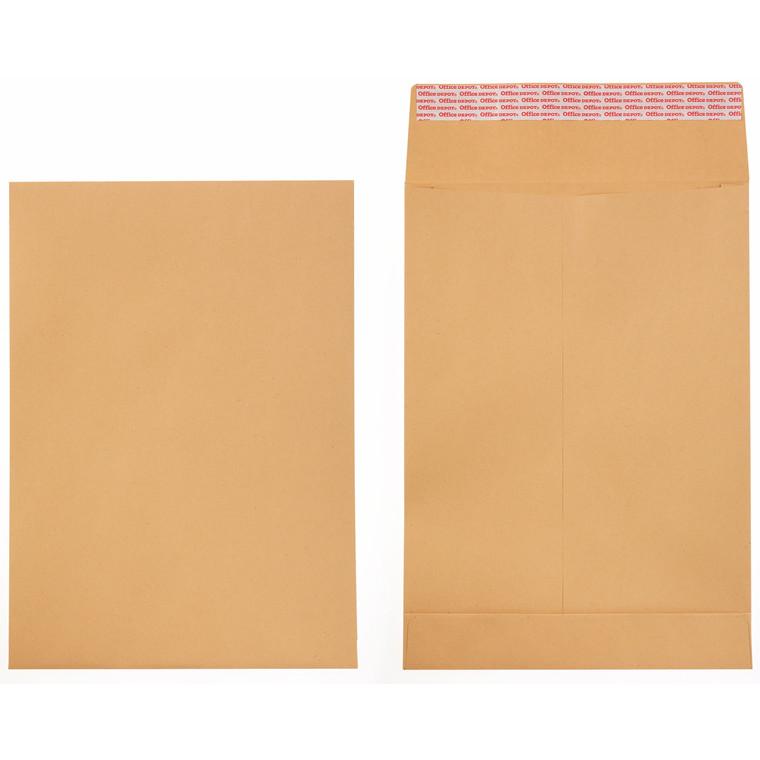 Prøveposer - C4 Office Depot brun 229 x 324 x 40 mm 2095069 - 100 stk