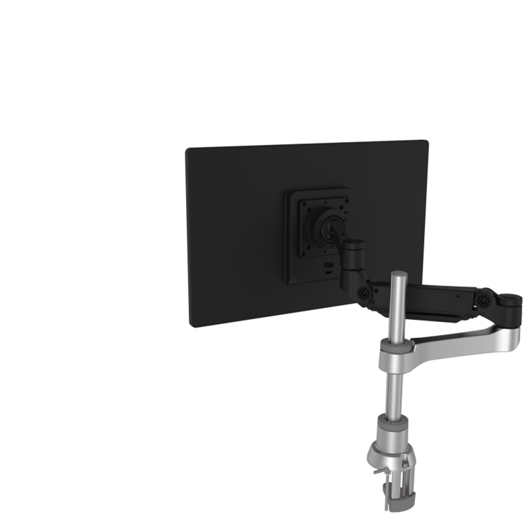 R-Go Caparo 4 D2, single monitor arm, desk mount