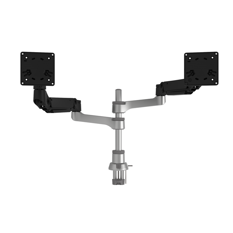 R-Go R-GO Caparo D2 circular dual monitor arm desk mount, gas lif