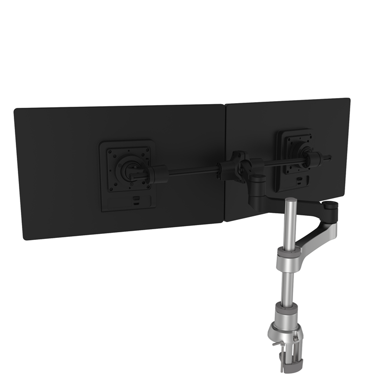 R-Go Zepher 4 Monitorarm plus Smart Bar, Silver