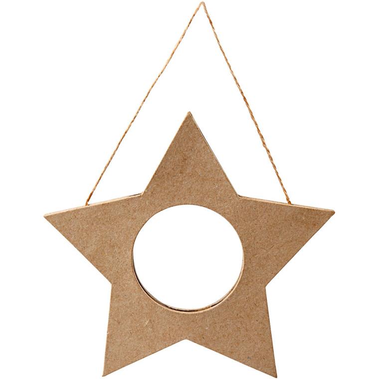 Ramme højde 15,5 cm bredde 15,5 cm - stjerne