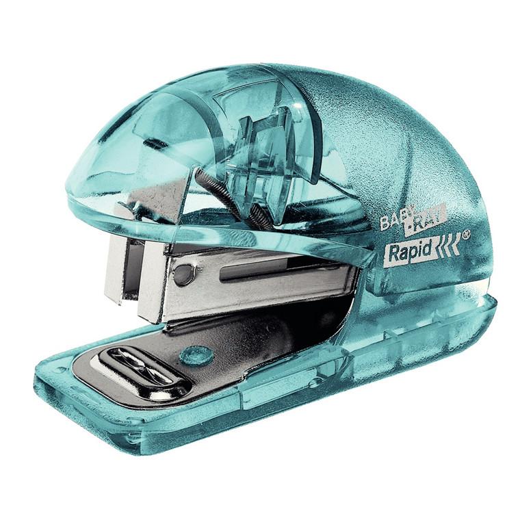 Rapid Hæftemaskine Colour'Ice t/10ark+klammer blå