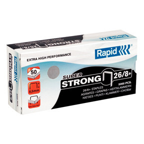 Rapid staples Super Strong 26/8+ Box of 5000