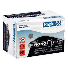 Rapid staples Super Strong 73/12 Box of 5000