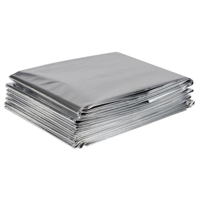 Redningstæppe, 2,15x1,5m, sølv, aluminium