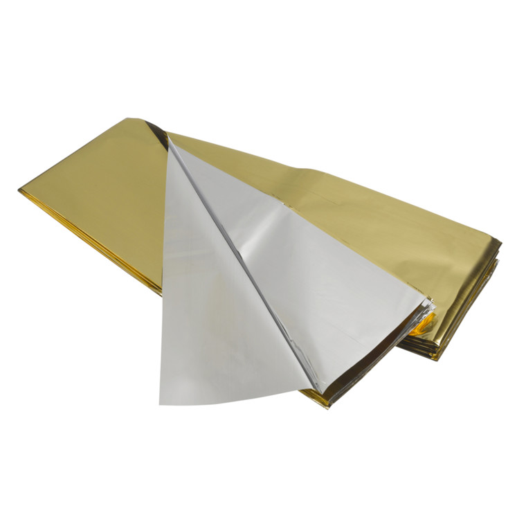 Redningstæppe, sølv/guld, 160x210 cm