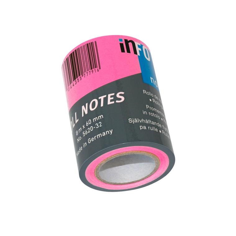 Refill notes Info t/notesdisp. brlliant rosa 60mmx10m/stk