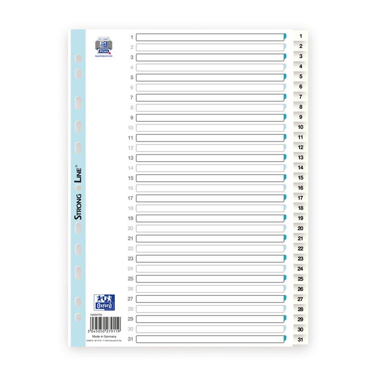 Register ELBA Strong-Line A4 1-31 hvid 0,12mm