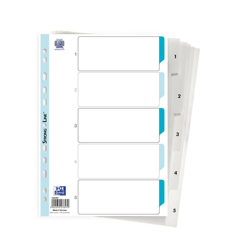Register ELBA Strong-Line A4 1-5 hvid 0,12mm