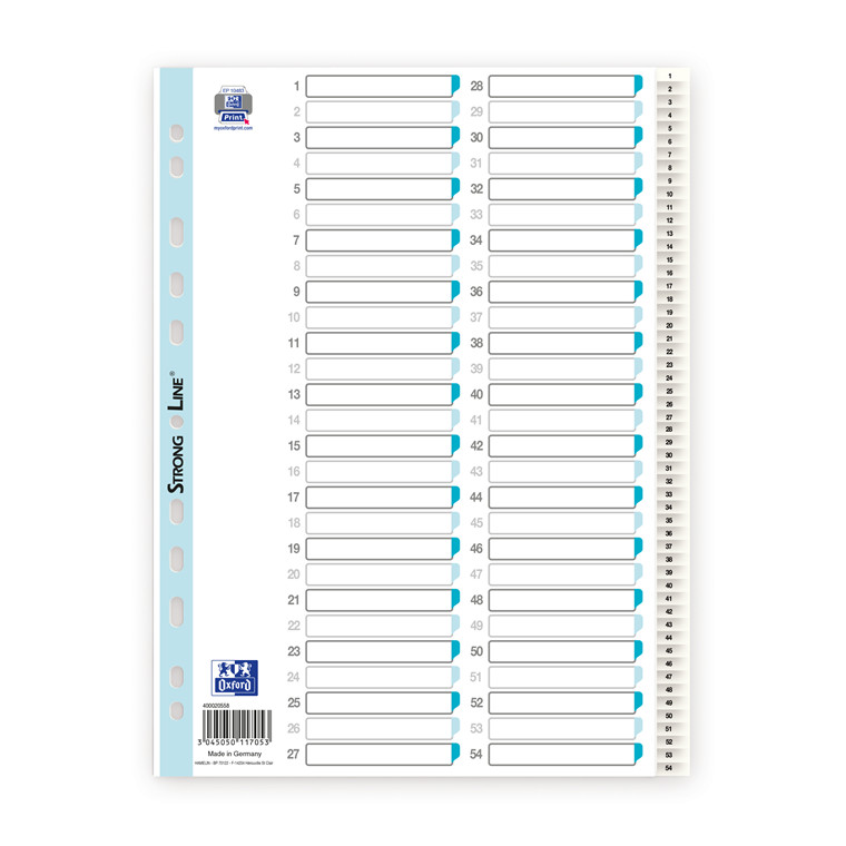 Register ELBA Strong-Line A4 1-54 hvid 0,12mm