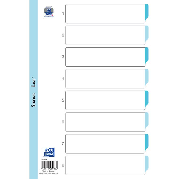Register ELBA Strong-Line A4 1-8 hvid 0,12mm