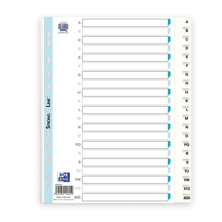 Register ELBA Strong-Line A4 A-Å+ hvid 0,12mm