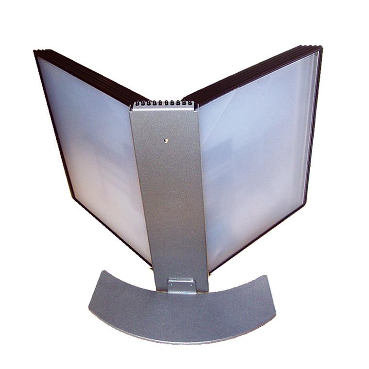 Bordholder BNT Easymount til 10 registerlommer A4 - Sølv