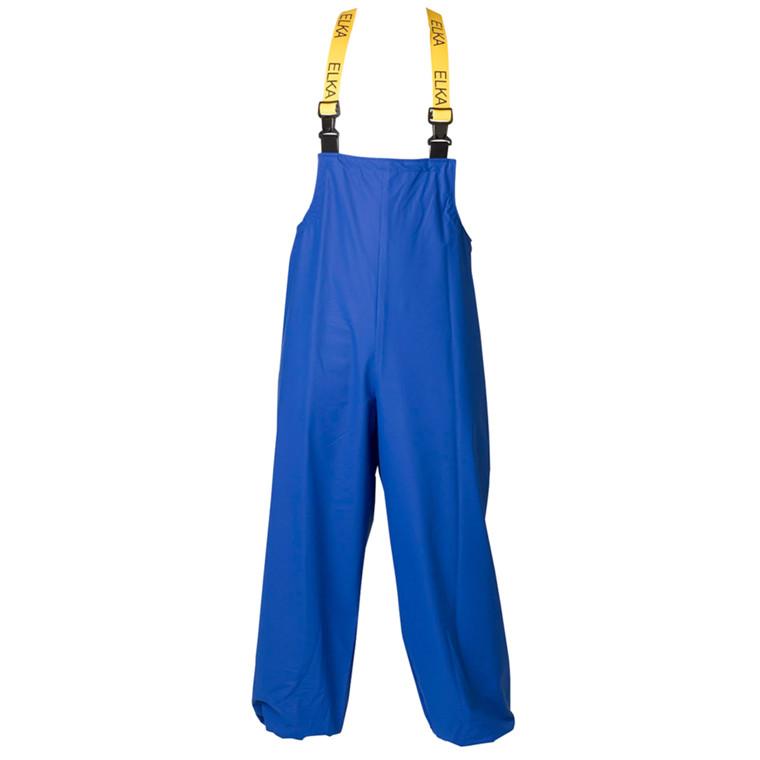 Regntøj, ELKA, XXL, blå, PU/nylon, Overalls, med knælomme