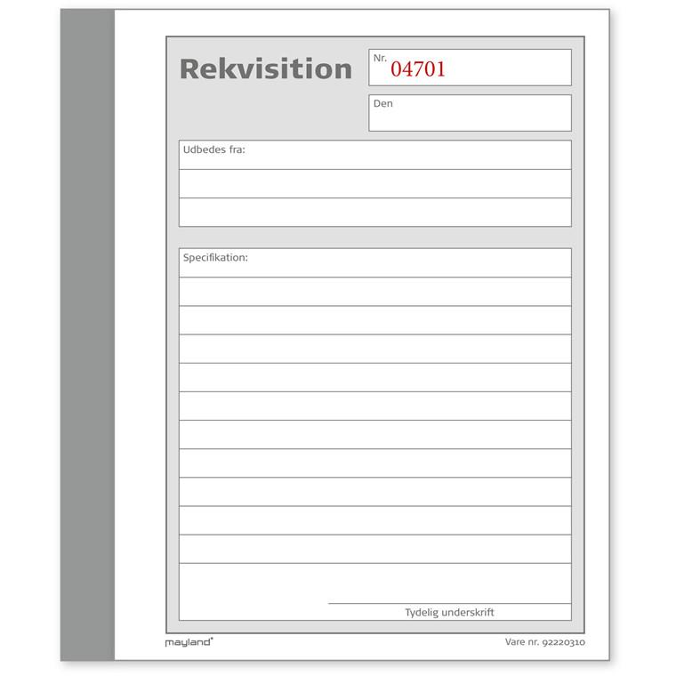 Rekvisitions bog 108 x 150 mm 92220310 - 2 x 50 blade
