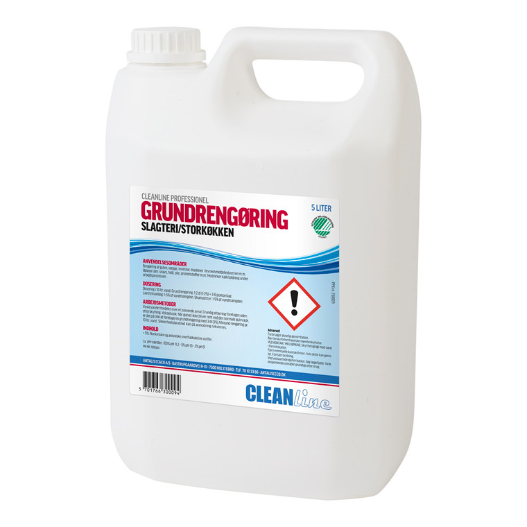 Cleanline Grundrengøring Slagteri/Storkøkken | 5 liter dunk