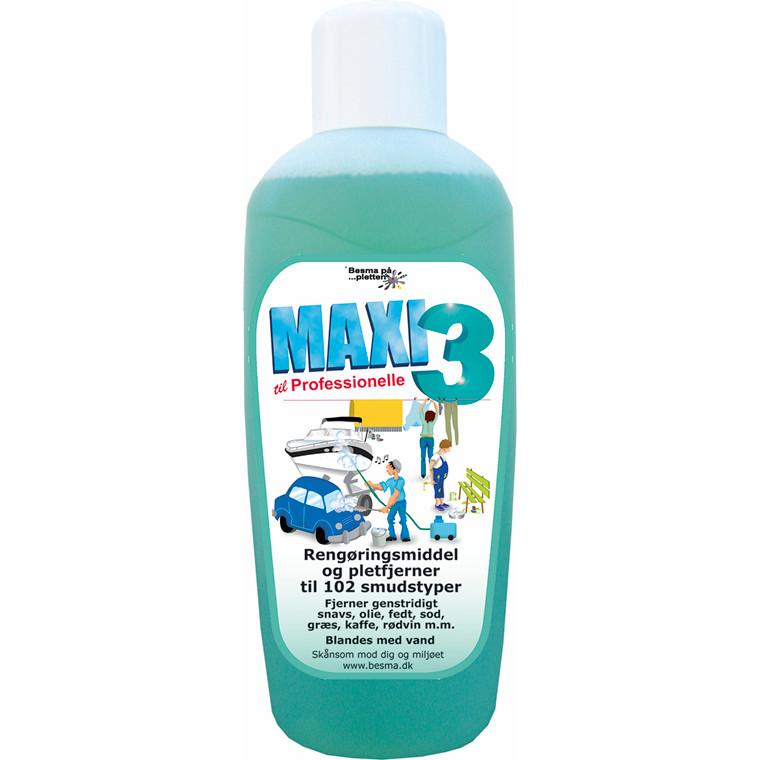 Rengøringsmiddel Maxi 3 t/olie og smuds 1L