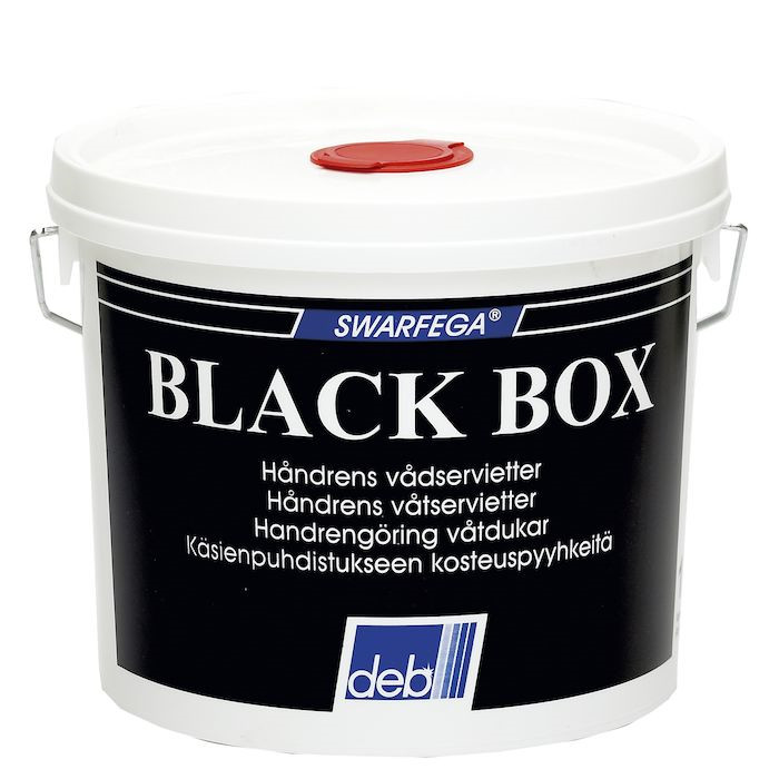 Renseserviet, Black Box, dispenser box, 150 ark