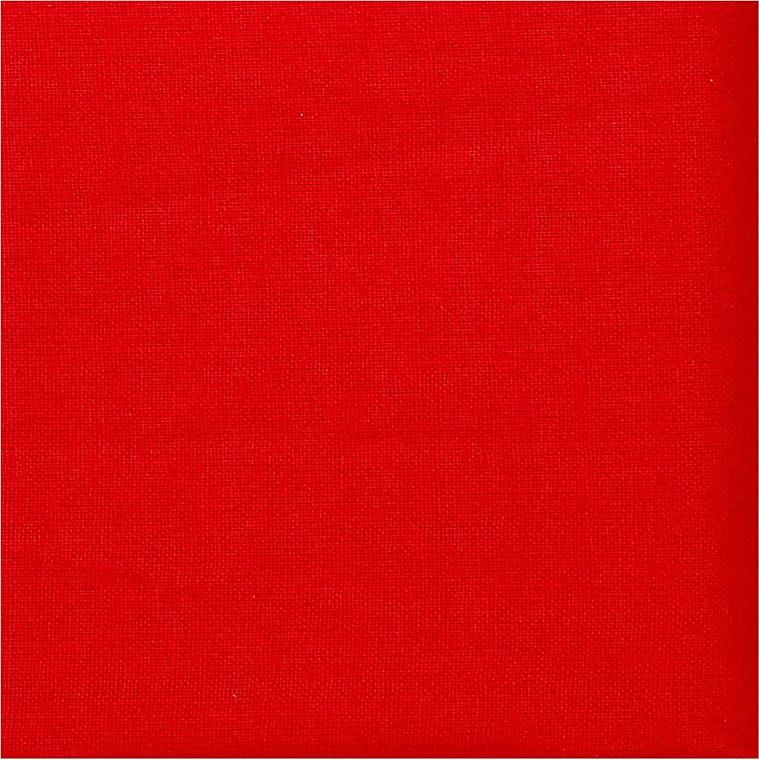 Rød bomuldsstof - 145 cm bred - 140 g/m2 - Pr. løbende meter