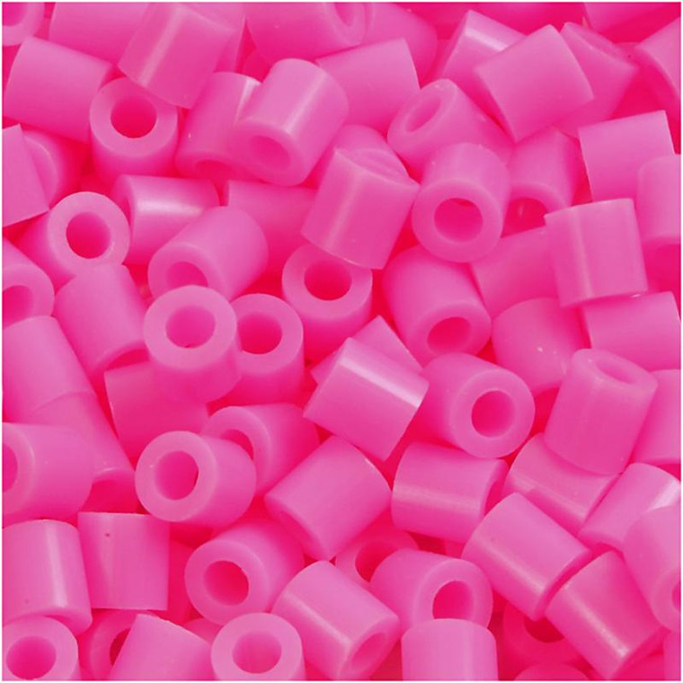 Rørperler 5 x 5 mm - hulstørrelse 2,5 mm - rosa (2) - medium - 1100 stk.