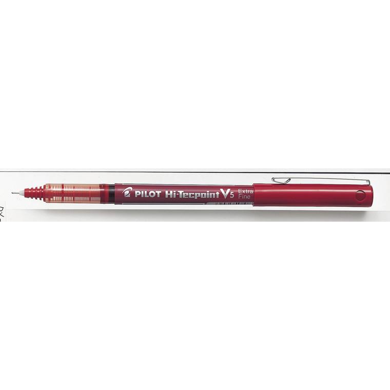 Roller hi-tecpoint Pilot rød extra fine 0,5mm BX-V5 12stk/