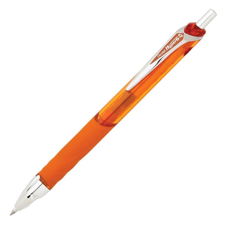 Pentel HyperG KL257V - Orange gelpen 0,7 mm medium