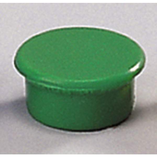 Rund magnet - Dahle 13 mm grøn - 10 stk.