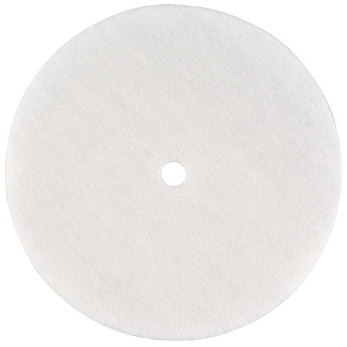 Rundfilter m. hul, hvid, Ø 160mm,