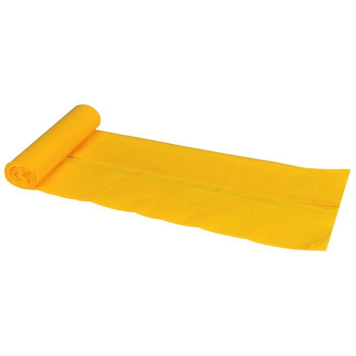 Supersæk, LLDPE, gul, 35 my, 55x80 cm, 40 l, 10stk/rl.