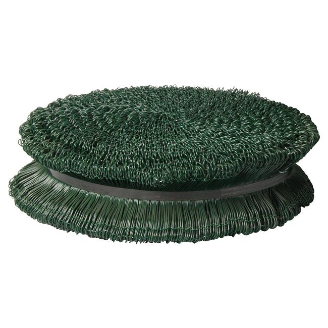 Sækkelukkere i tråd 150 mm - Grøn plastovertrukne - 5000 stk