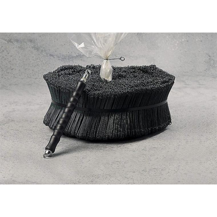 Sækkelukkere 220 mm i tråd blanke - 1,25 1000 stk rullen