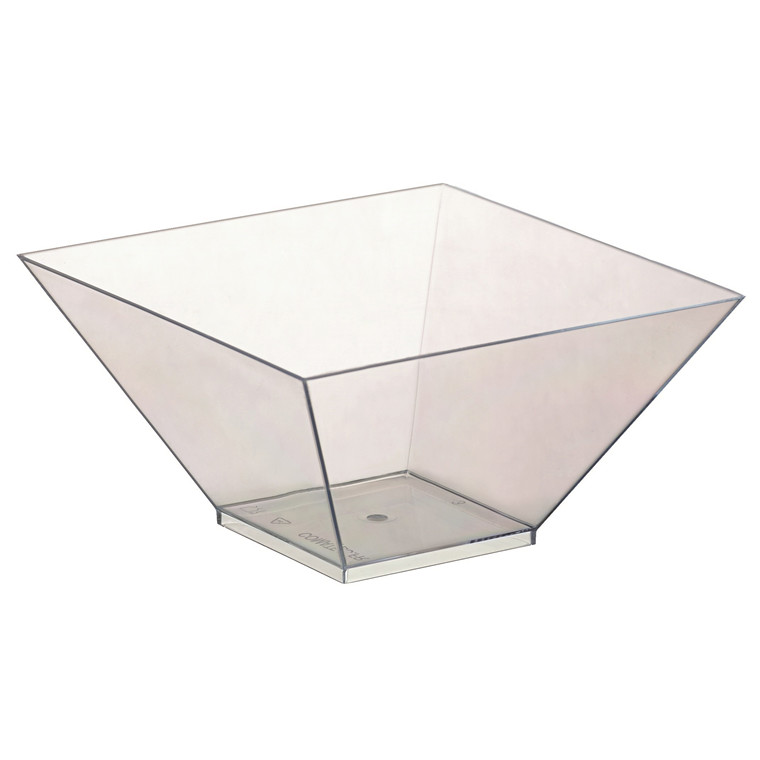 Salat bowl firkantet klar 550 ml 130 x 130 x 70 mm - 100 stk