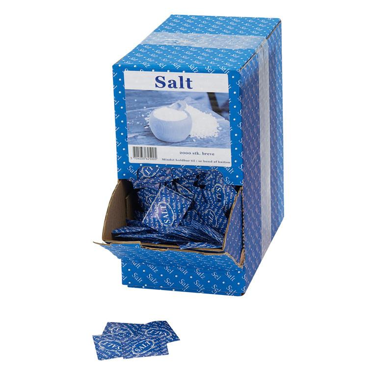 Salt i portionsbreve - 2000 stk i en æske