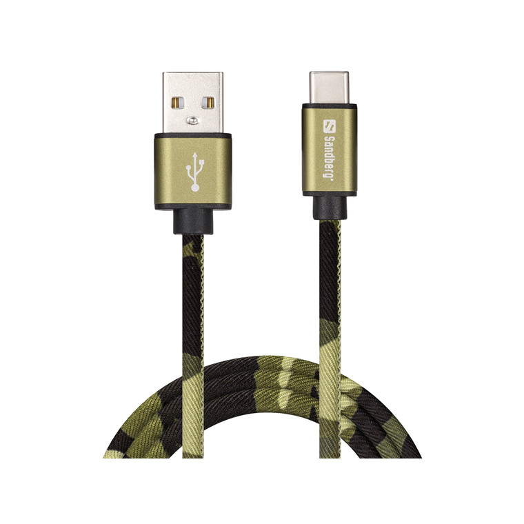 Sandberg USB-C Cable, Green Camouflage (1m)