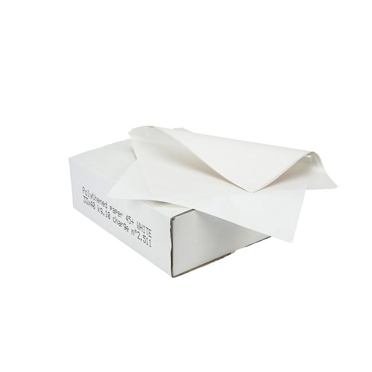 Sandwichpapir med PE 37 x 50 cm - 10 kg - hvid
