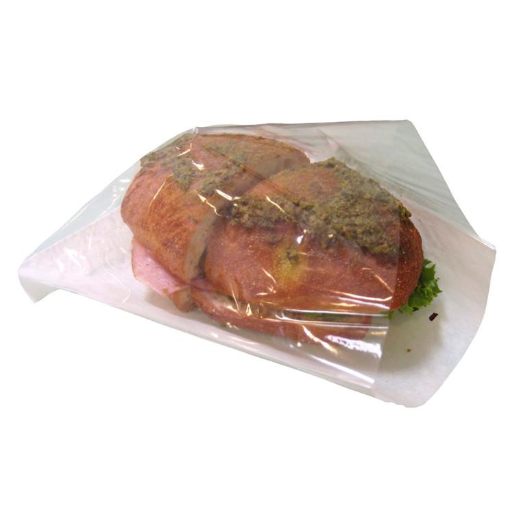 Sandwichpose hvid 200 x 210 mm - 150 mm rude - 500 stk