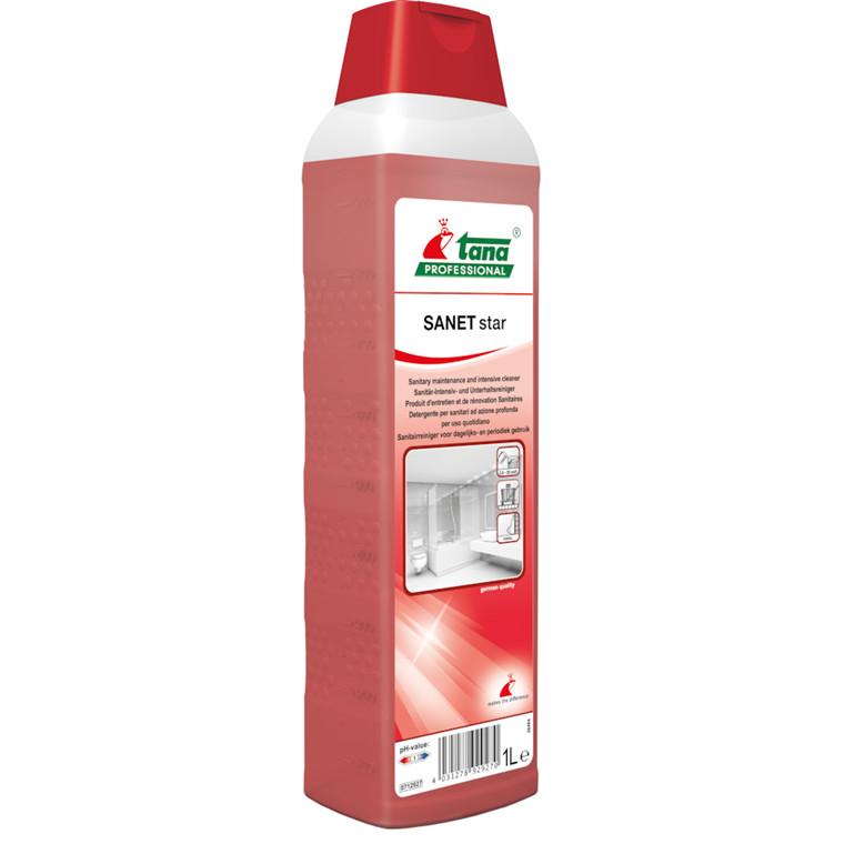 Sanitetsrengøring, Tana Professional Sanet Star, 1 l, med farve og parfume