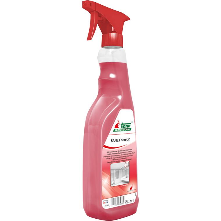 Sanitetsrens, Tana Sanet Sanicid, med farve og parfume, 750 ml