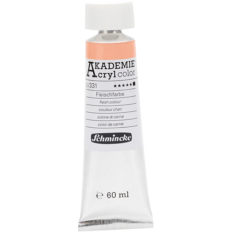 Schmincke AKADEMIE® Acryl color, Flesh colour (331) , opaque , extremely light fast , 60ml