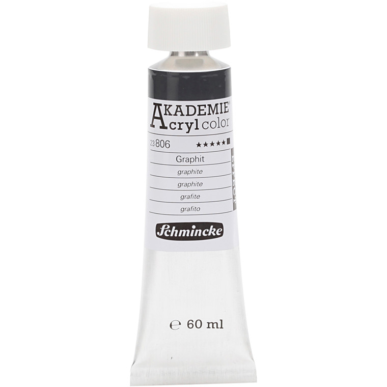 Schmincke AKADEMIE® Acryl color, Graphite (806) , opaque , extremely light fast , 60ml