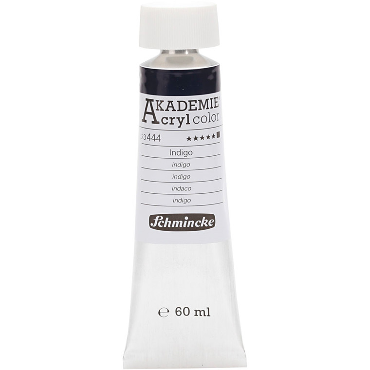 Schmincke AKADEMIE® Acryl color, O , extremely light fast , indigo (444), 60ml