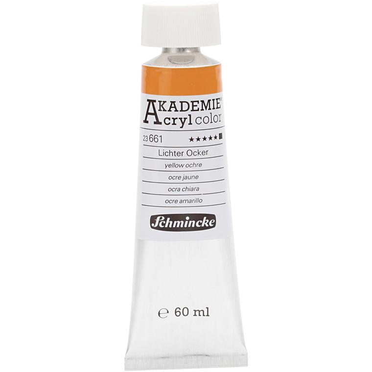 Schmincke AKADEMIE® Acryl color, O , extremely light fast , yellow ochre (661), 60ml