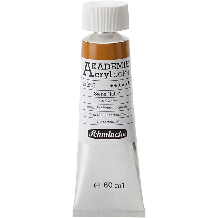 Schmincke AKADEMIE® Acryl color, Raw sienna (655) , semi-opaque , extremely light fast , 60ml