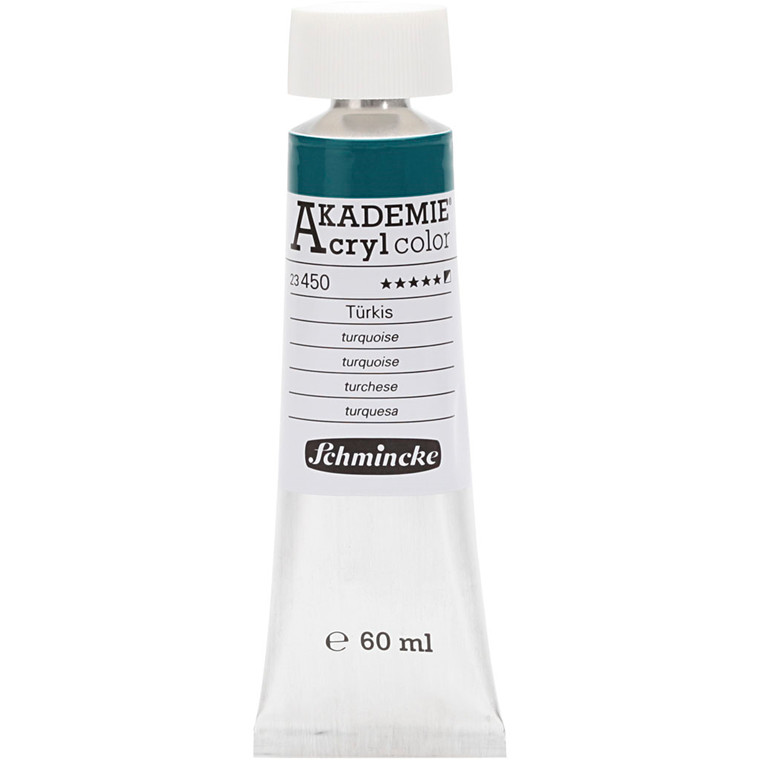 Schmincke AKADEMIE® Acryl color, S/O , extremely light fast , turquoise (450), 60ml