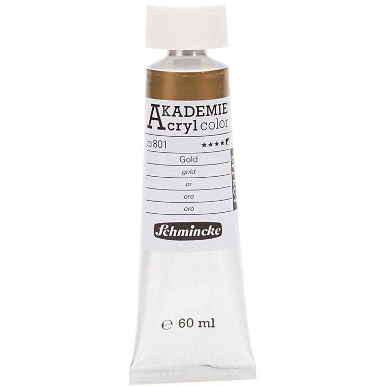 Schmincke AKADEMIE® Acryl color, S/O , good lightfastness , gold (801), 60ml