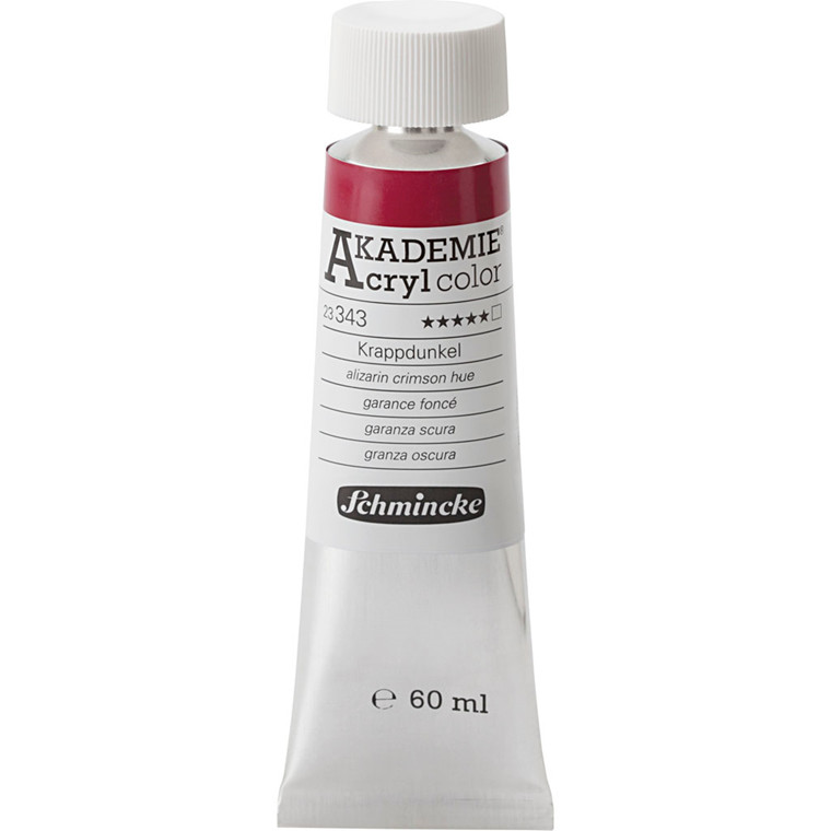 Schmincke AKADEMIE® Acryl color, T , extremely light fast , alizarin crimson hue (343), 60ml