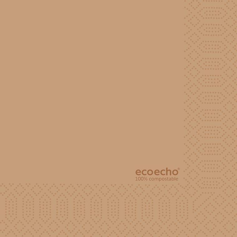 Serviet 3-lag 1/4 fold 33 x 33 cm ECO - 250 stk