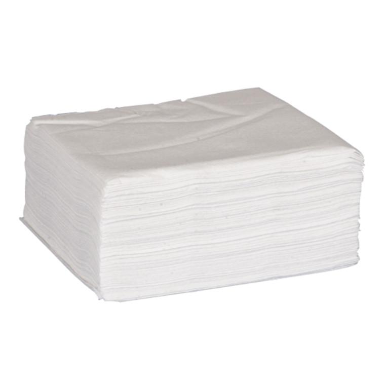 Serviet, Gastro-Line, 1-lags, 1/4 fold, økonomi, hvid, 100% nyfiber, 33cm x 33cm