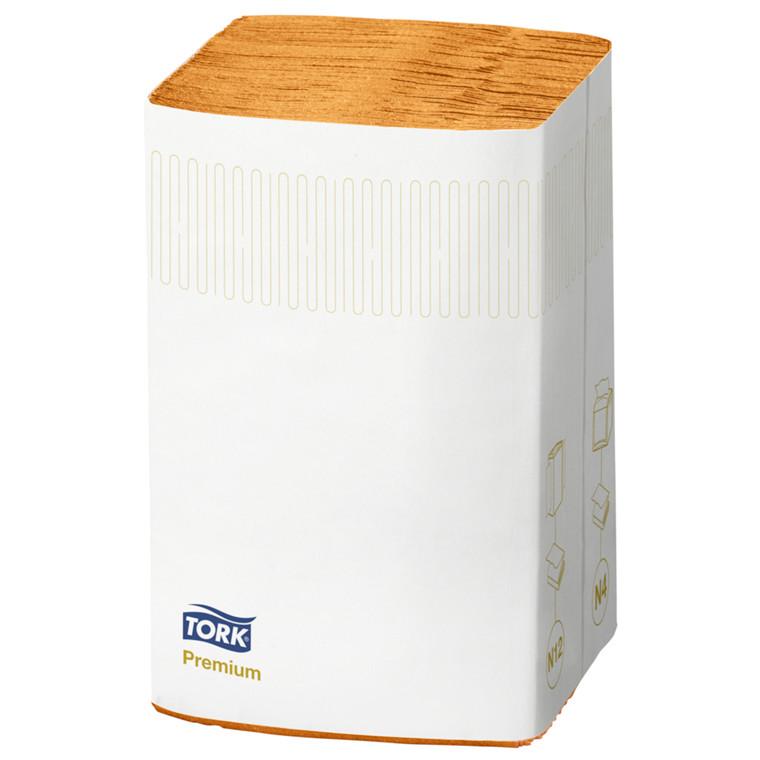 Serviet, Tork Premium N4, 2-lags, orange, 100% nyfiber, 33cm x 21,30cm