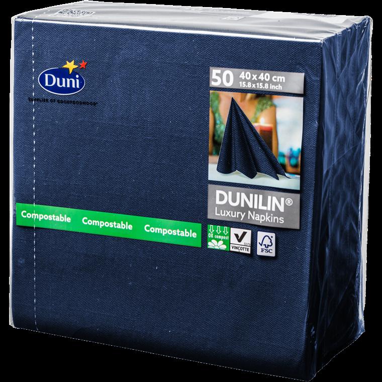 Servietter Dunilin 40 x 40 cm mørkeblå - 50 stk.